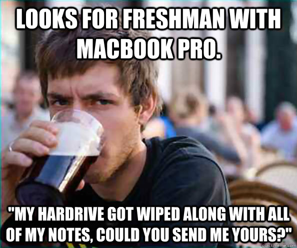 Looks for freshman with macbook pro.