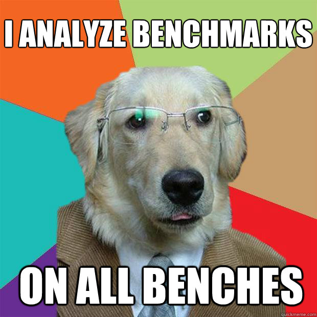 I analyze benchmarks  on all benches - I analyze benchmarks  on all benches  Business Dog