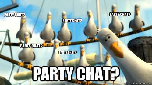 Party Chat? Party Chat? Party Chat? Party Chat? Party Chat? Party Chat? - Party Chat? Party Chat? Party Chat? Party Chat? Party Chat? Party Chat?  Finding Nemo Seagulls