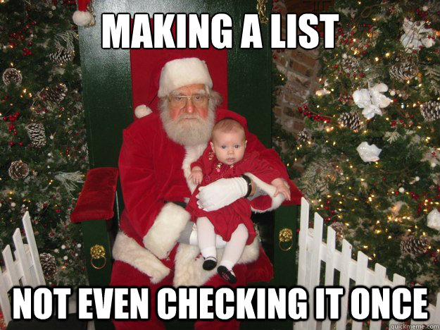 Making a List Not even checking it once - Making a List Not even checking it once  Grumpy Santa