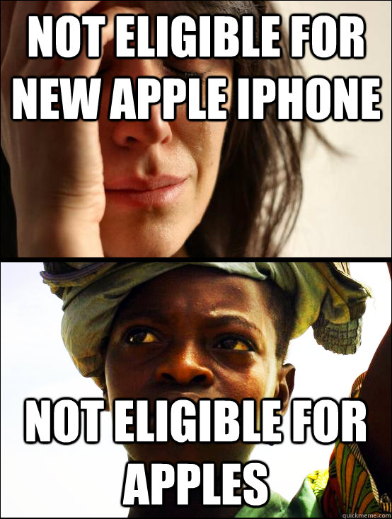 Not eligible for new apple iPhone Not eligible for apples