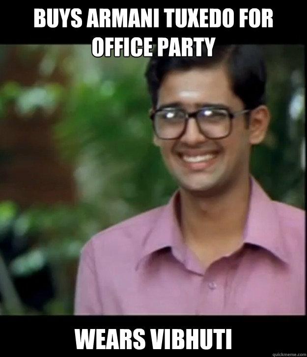 Buys Armani Tuxedo for Office Party Wears Vibhuti  Smart Iyer boy