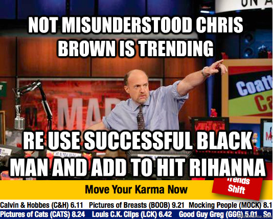 Not misunderstood chris brown is trending Re use successful black man and add to hit Rihanna - Not misunderstood chris brown is trending Re use successful black man and add to hit Rihanna  Mad Karma with Jim Cramer