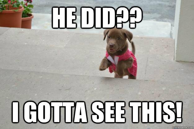 he did?? I gotta see this! - he did?? I gotta see this!  Misc