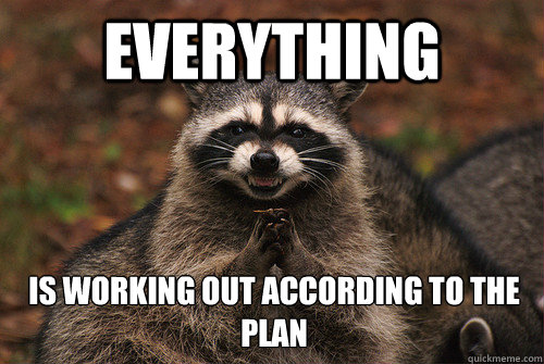 Everything is working out according to the plan - Everything is working out according to the plan  Insidious Racoon 2