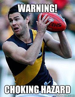 WARNING! Choking hazard - WARNING! Choking hazard  Richmond Tigers