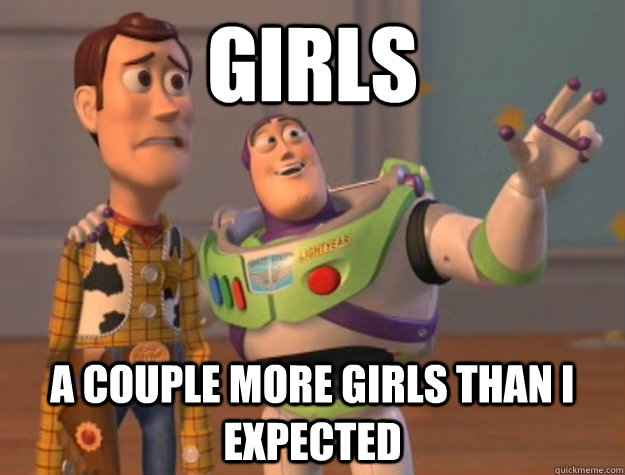 girls A couple more girls than I expected - girls A couple more girls than I expected  Buzz Lightyear