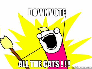 downvote all the cats ! ! ! - downvote all the cats ! ! !  All The Things
