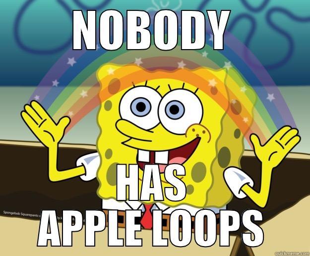 NOBODY HAS APPLE LOOPS Nobody Cares