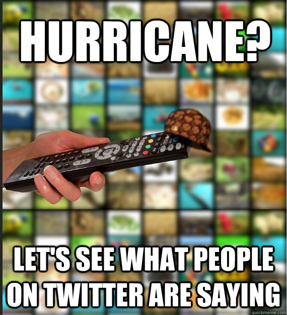 Hurricane? Let's see what people on Twitter are saying