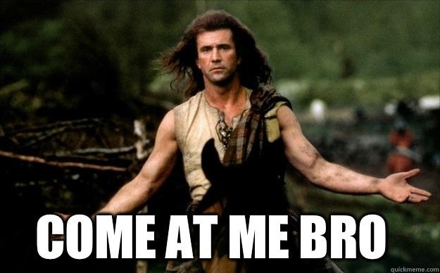 Monday come at me bro