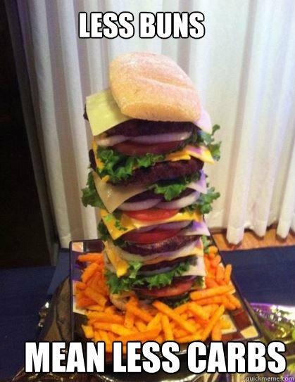 Less buns mean less carbs