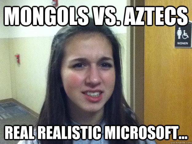 Mongols vs. Aztecs Real realistic microsoft...