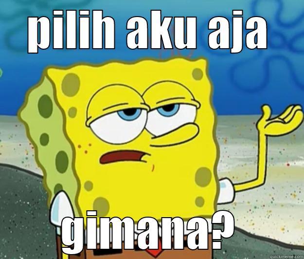 PILIH AKU AJA GIMANA? Tough Spongebob