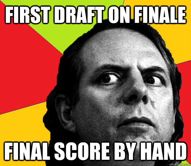 first draft on finale Final score by hand