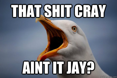 That shit cray Aint it Jay?  THAT SHIT CRAY