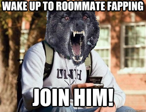wake up to roommate fapping join him!