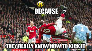 They really know how to kick it because  ROONEY KICK