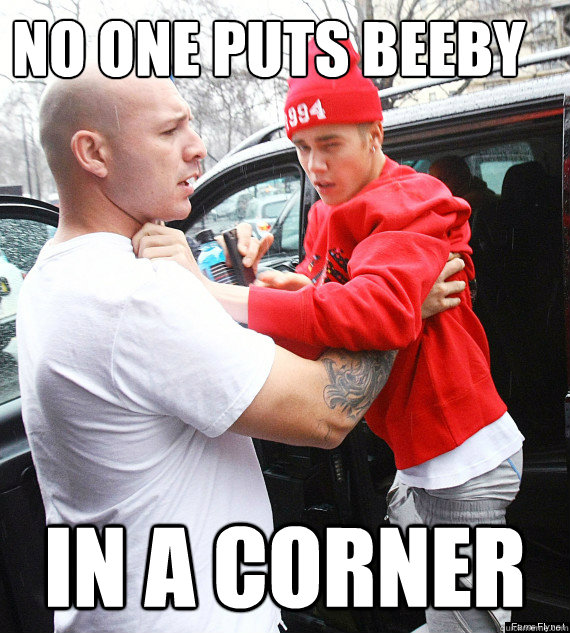 no one puts beeby in a corner - no one puts beeby in a corner  Little Biebs