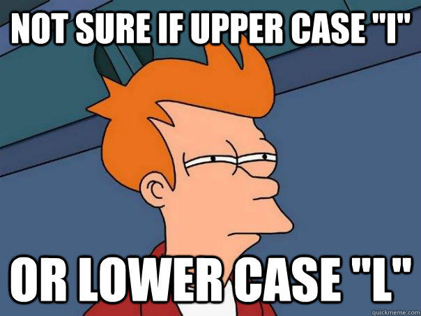 not sure if upper case