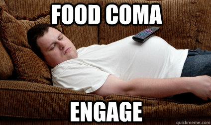 Food Coma Engage Post Thanksgiving Quickmeme
