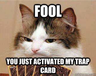 FOOL You just activated my trap card - FOOL You just activated my trap card  Yugi-Cat