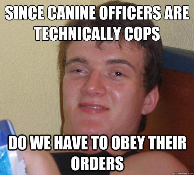 Since canine officers are technically cops Do we have to obey their orders - Since canine officers are technically cops Do we have to obey their orders  10 Guy