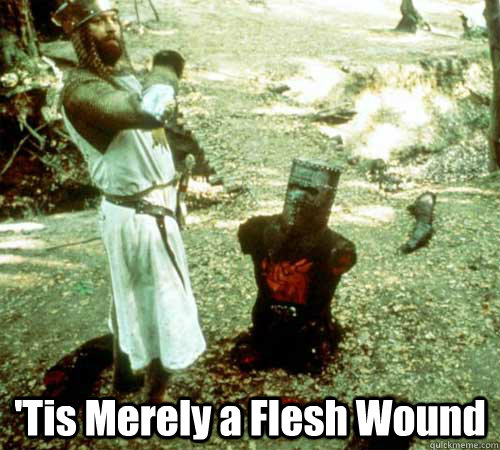 'Tis Merely a Flesh Wound -  'Tis Merely a Flesh Wound  Black Knight Defeated
