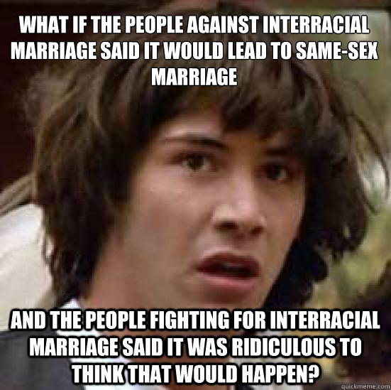 People against interracial relationships