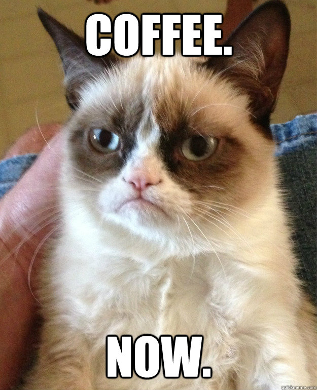 Coffee. Now.