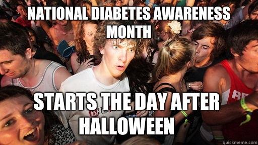National diabetes awareness month Starts the day after halloween - National diabetes awareness month Starts the day after halloween  Sudden Clarity Clarence