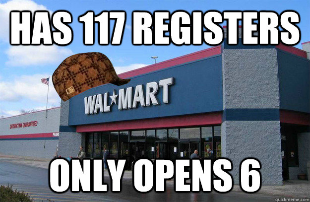 Has 117 registers Only opens 6