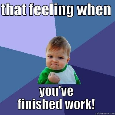 finish work - THAT FEELING WHEN  YOU'VE FINISHED WORK! Success Kid