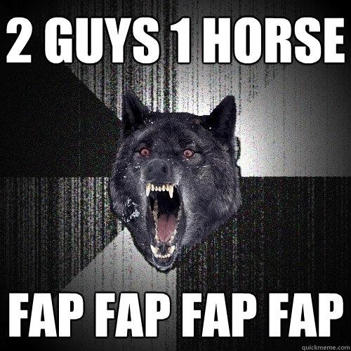 2 Guys 1 Horse Fap
