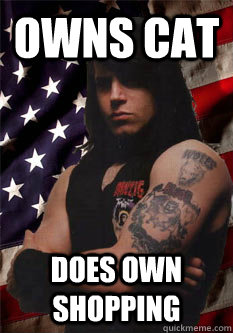 owns cat does own shopping  Scumbag Danzig