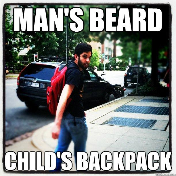 Man's Beard Child's Backpack