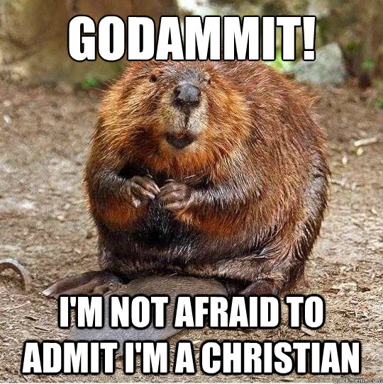 Godammit! I'm not afraid to admit I'm a Christian