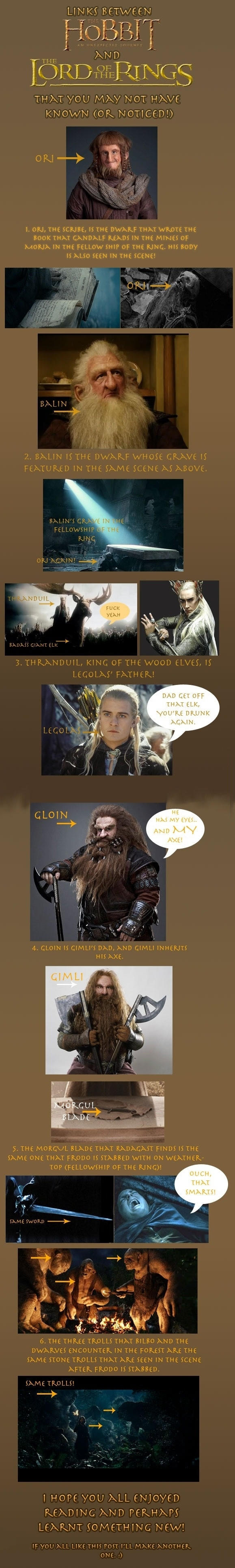 Links between The Hobbit & The Lord of the Rings -   Misc