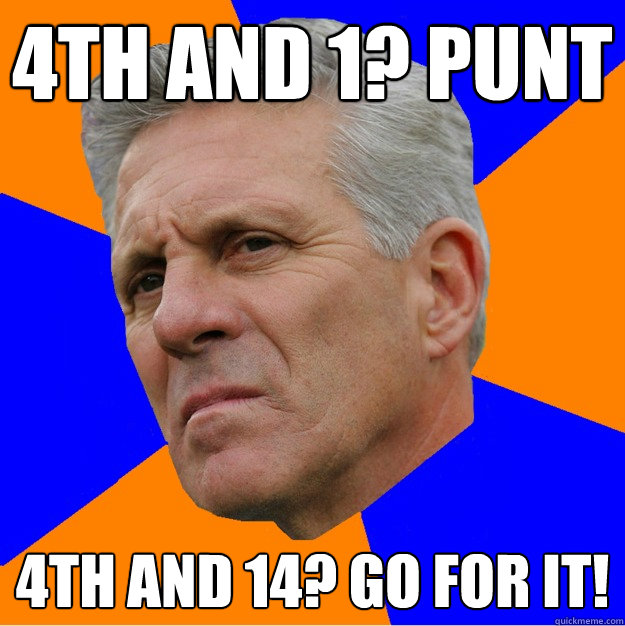 4th and 1? Punt 4th and 14? Go for it!