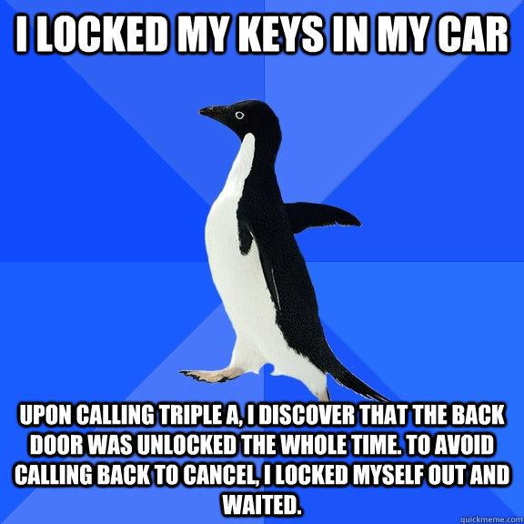 I Locked My Keys In My Car Upon Calling Triple A I