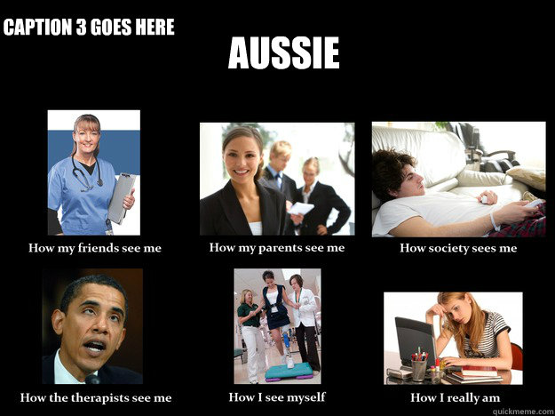 Aussie  Caption 3 goes here  How they see me
