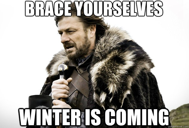 Brace Yourselves  winter is coming - Brace Yourselves  winter is coming  Tea break Ned Stark