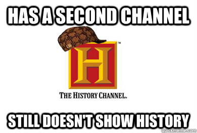 Has a second channel still doesn't show history