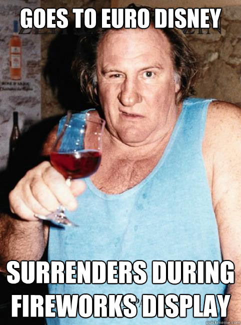 Goes to Euro Disney Surrenders during fireworks display