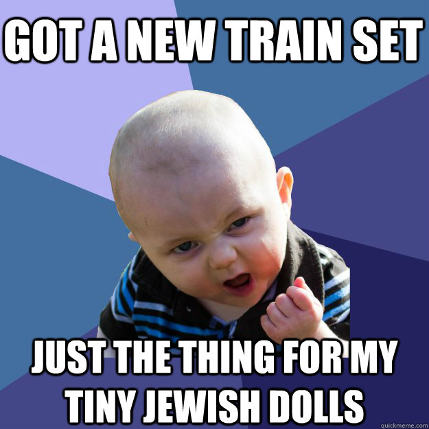 Got a new train set just the thing for my tiny jewish dolls - Got a new train set just the thing for my tiny jewish dolls  Misc