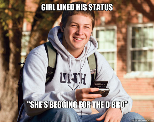 girl liked his status