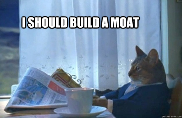 I should build a moat - I should build a moat  Sophisticated Cat