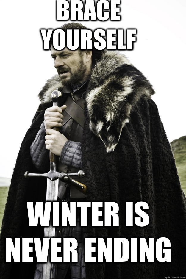 BRACE YOURSELF winter is never ending