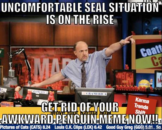 It's On The Rise Take TWO!!! - UNCOMFORTABLE SEAL SITUATION IS ON THE RISE GET RID OF YOUR AWKWARD PENGUIN MEME NOW!! Mad Karma with Jim Cramer
