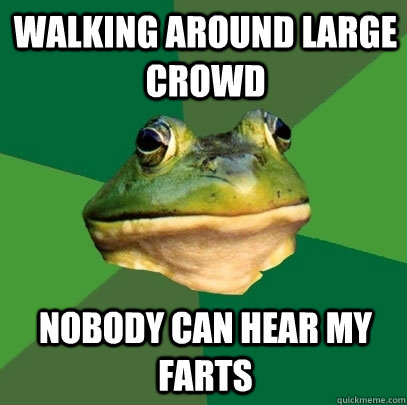WAlking around large crowd Nobody can hear my farts  - WAlking around large crowd Nobody can hear my farts   Foul Bachelor Frog